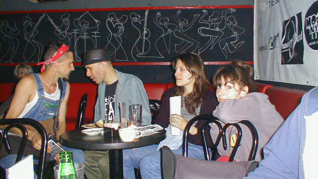 Breadfoot, Lenny Molotov, Randi Russo, Patsy Grace, July 29, 2001 Photo ©Jon Berger.