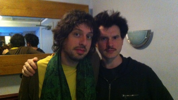 Adam and Toby before the London show